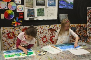 Kindergarten Students Taking Hunakai Studio's Introduction to Art Class