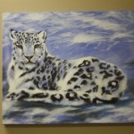 Winter Cat Painting